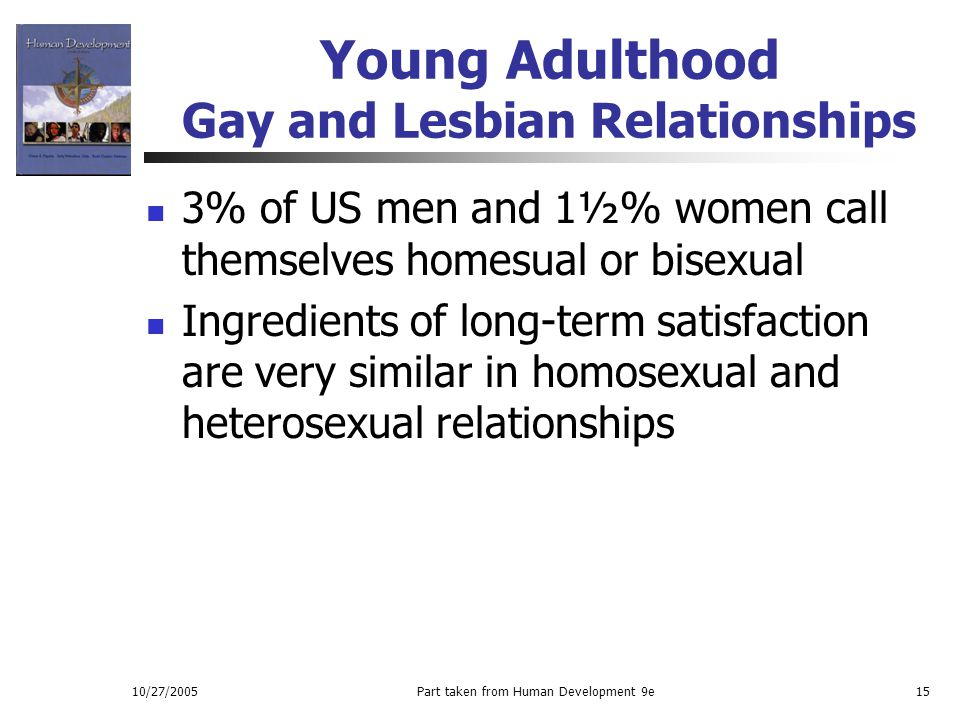 Young Adulthood Gay and Lesbian Relationships