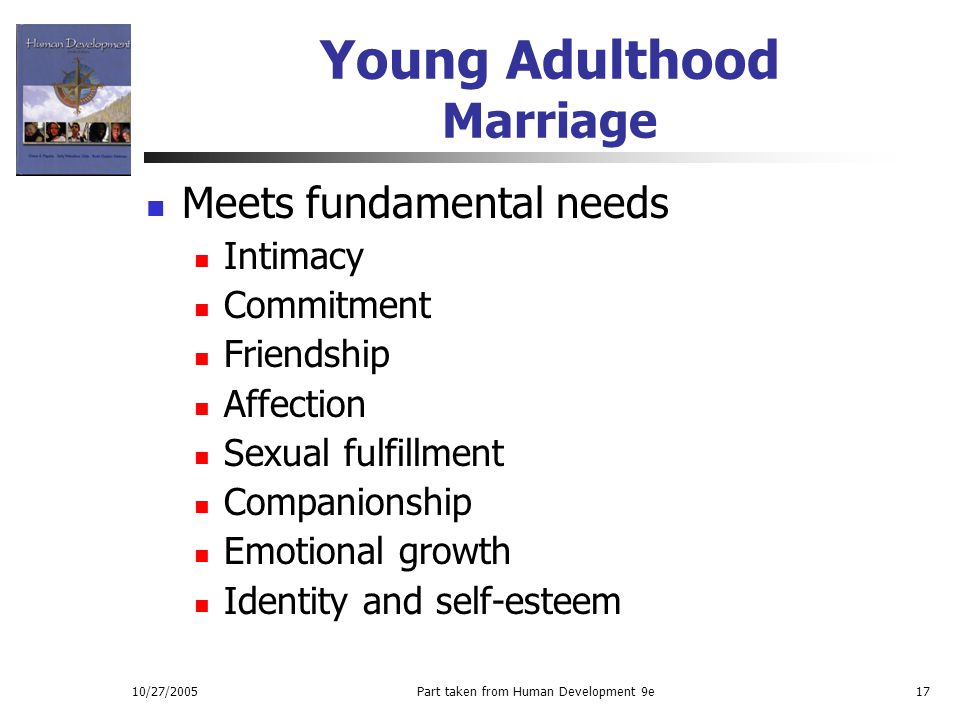Young Adulthood Marriage