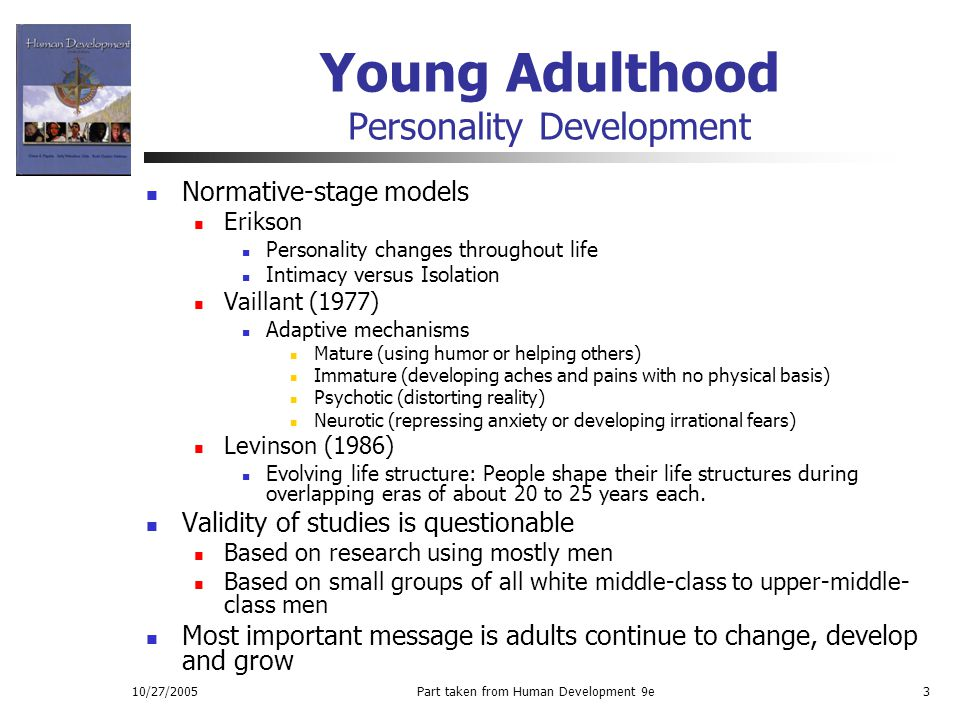 Young Adulthood Personality Development