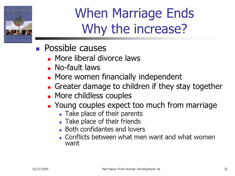 When Marriage Ends Why the increase