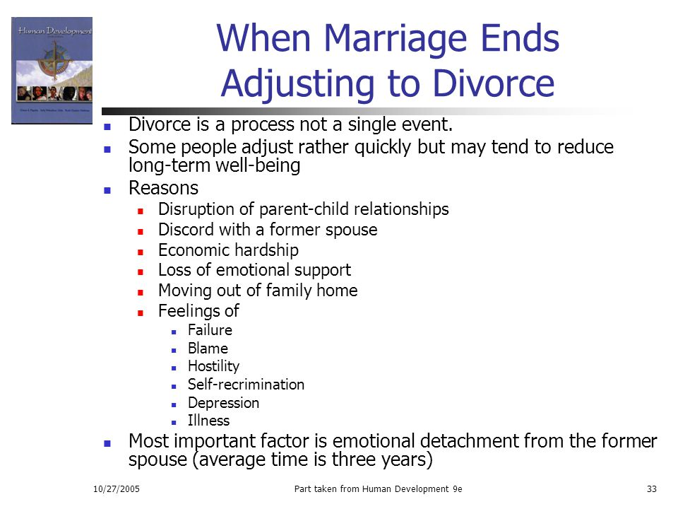 When Marriage Ends Adjusting to Divorce