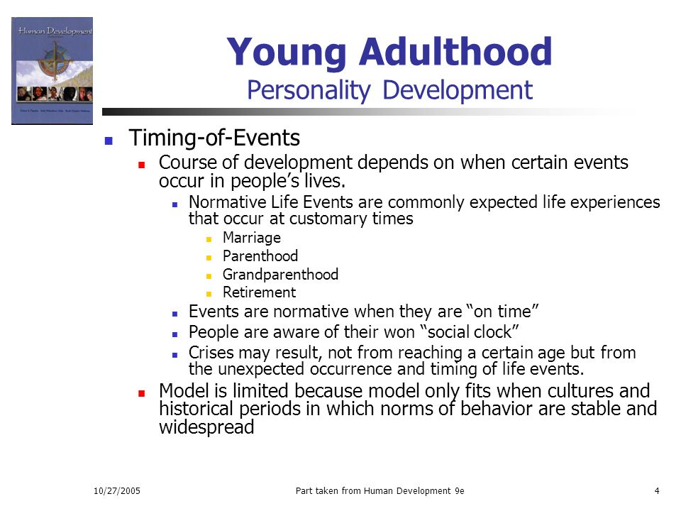 in Adult personality young development