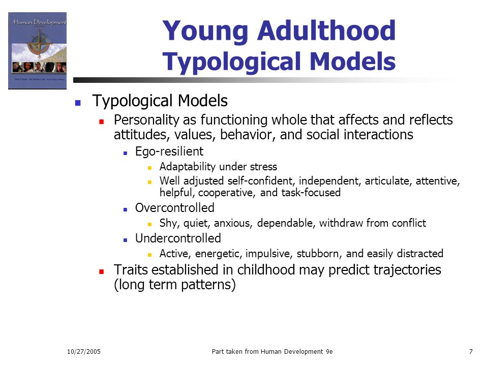 Young Adulthood Typological Models