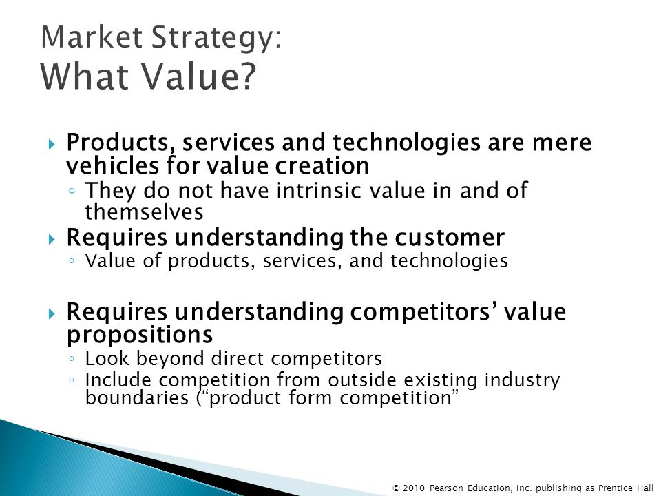 Market Strategy: What Value