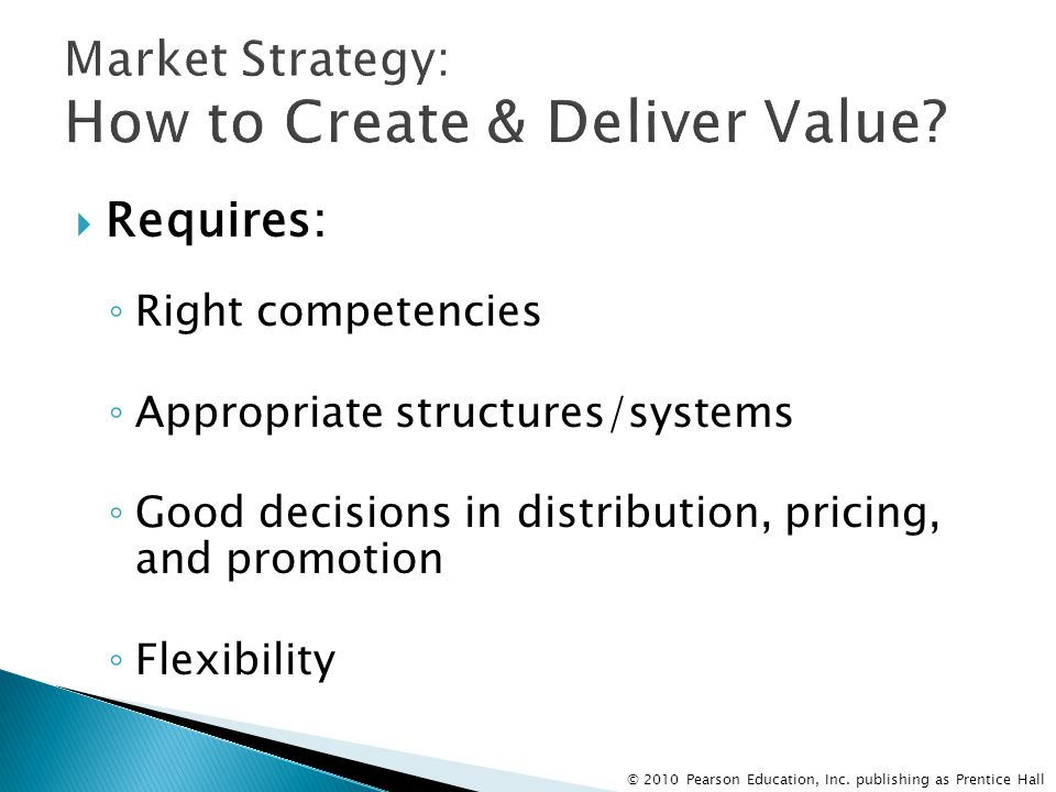 Market Strategy: How to Create & Deliver Value