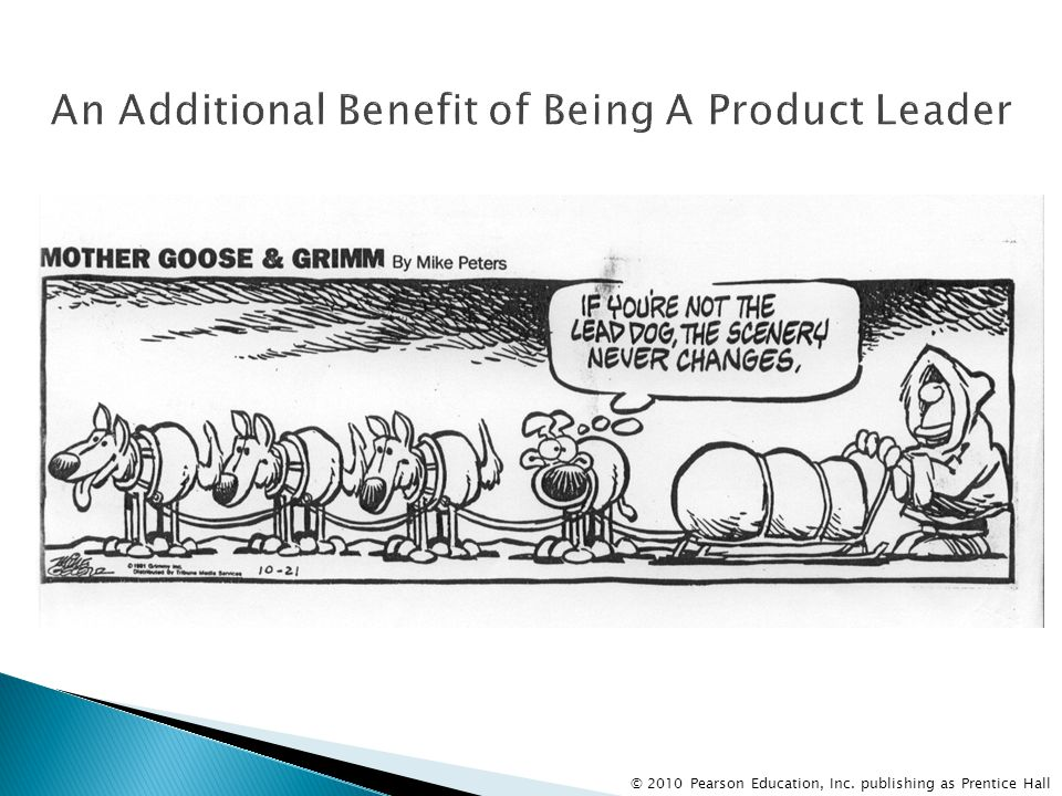 An Additional Benefit of Being A Product Leader