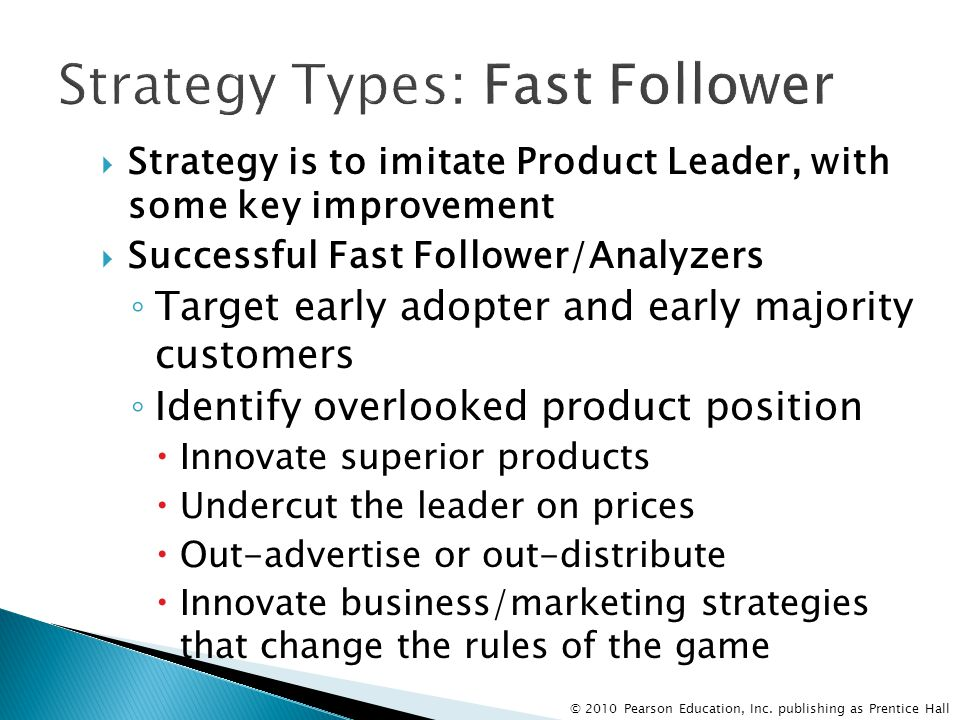 Strategy Types: Fast Follower