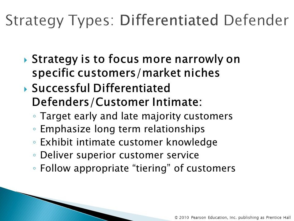 Strategy Types: Differentiated Defender