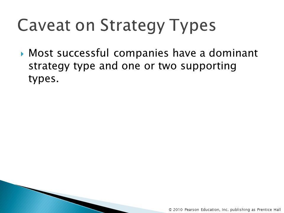 Caveat on Strategy Types