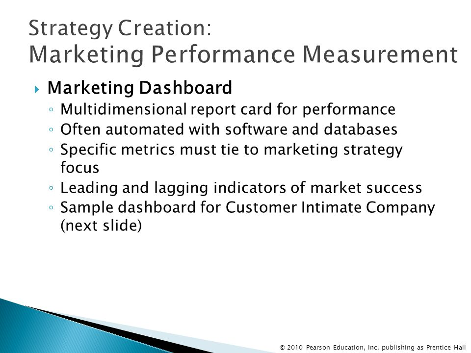 Strategy Creation: Marketing Performance Measurement