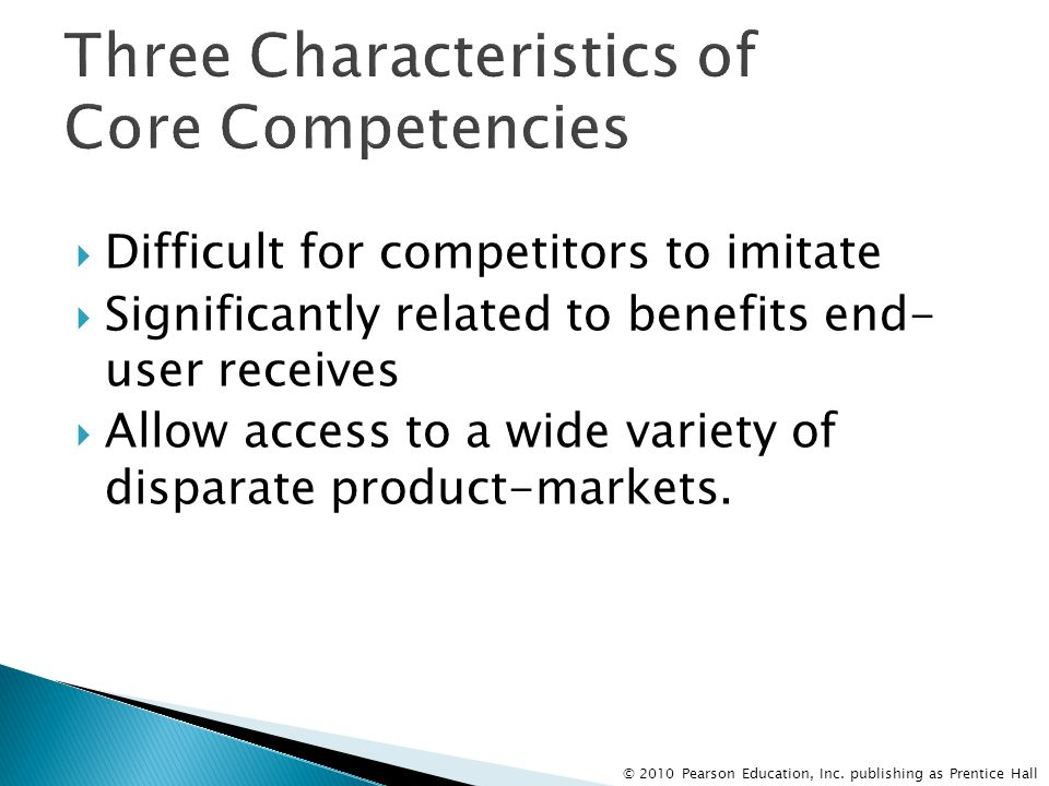 Three Characteristics of Core Competencies