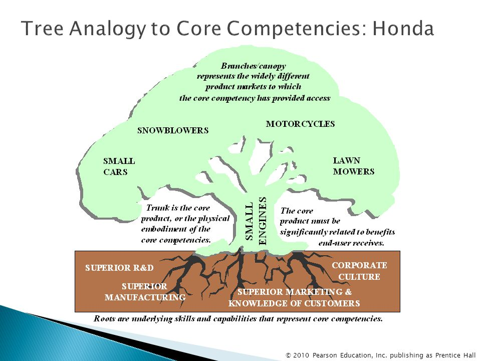 Tree Analogy to Core Competencies: Honda