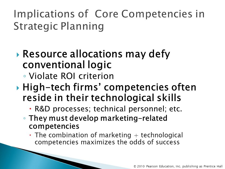 Implications of Core Competencies in Strategic Planning