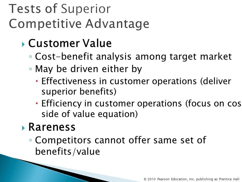 Tests of Superior Competitive Advantage