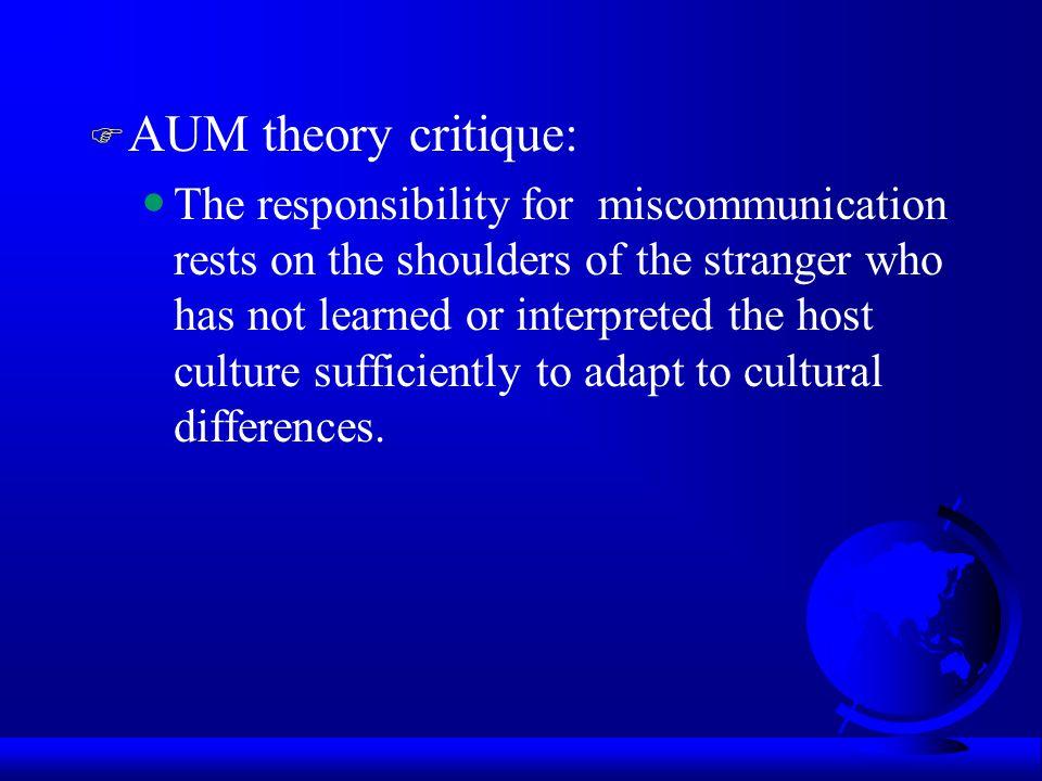 AUM theory critique: