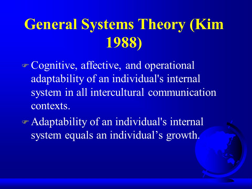 General Systems Theory (Kim 1988)