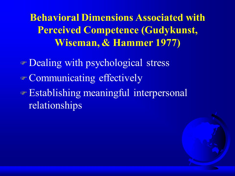 Dealing with psychological stress Communicating effectively