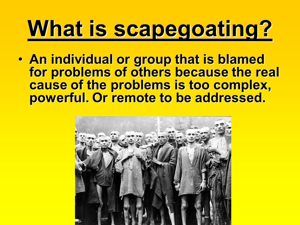 What is scapegoating