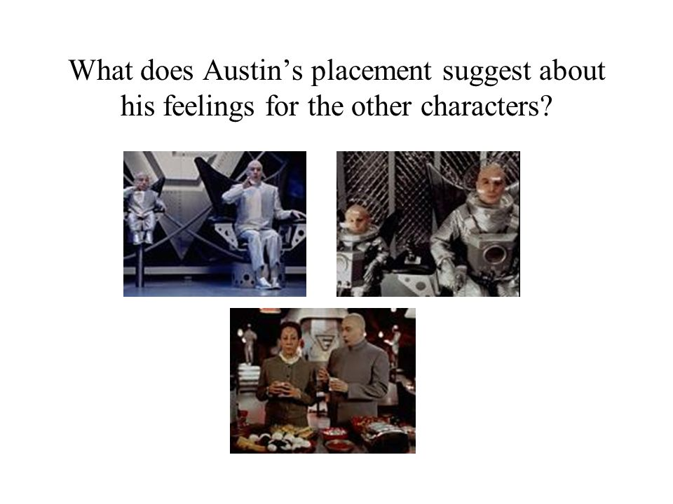 What does Austin's placement suggest about his feelings for the other characters