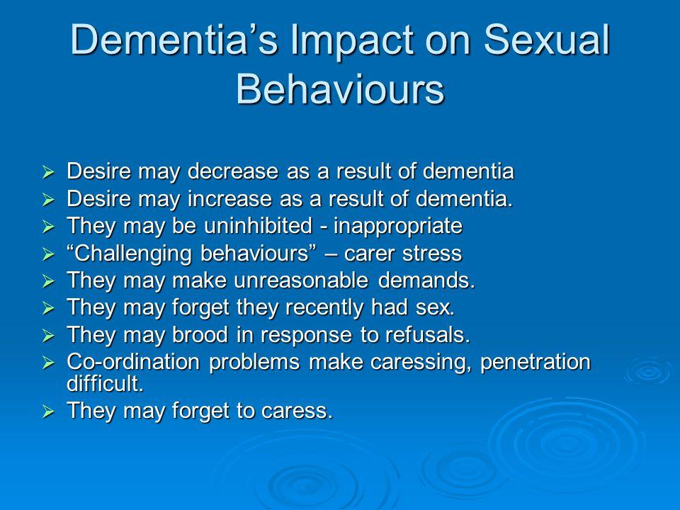 Dementia's Impact on Sexual Behaviours
