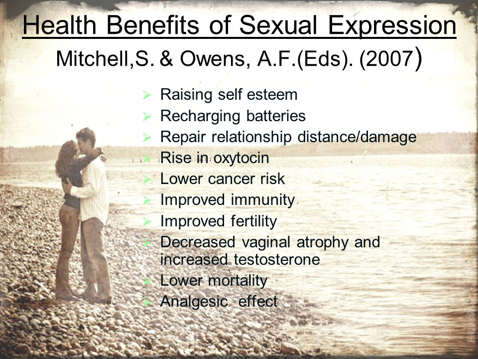 Health Benefits of Sexual Expression Mitchell,S. & Owens, A. F. (Eds)