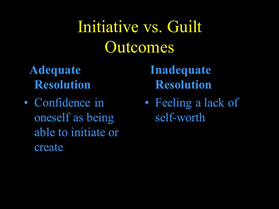 Initiative vs. Guilt Outcomes