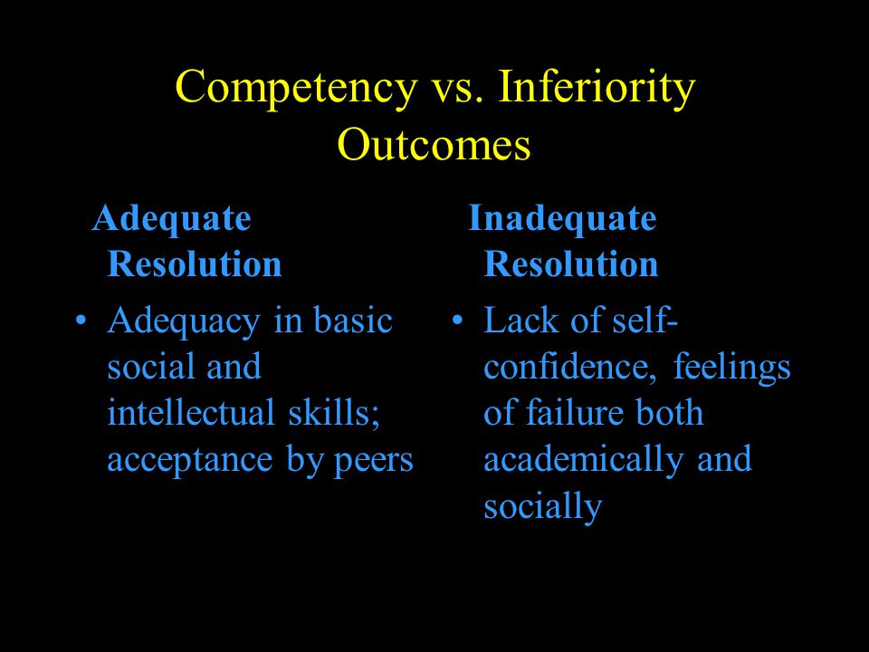 Competency vs. Inferiority Outcomes
