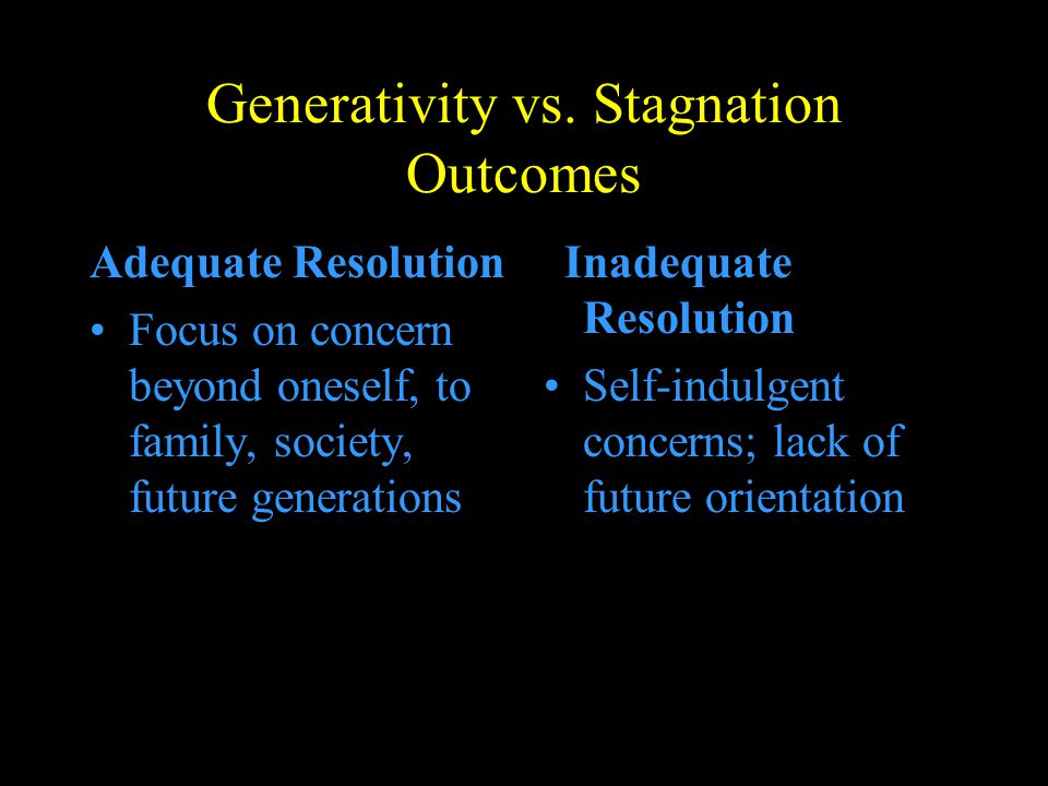 Generativity vs. Stagnation Outcomes
