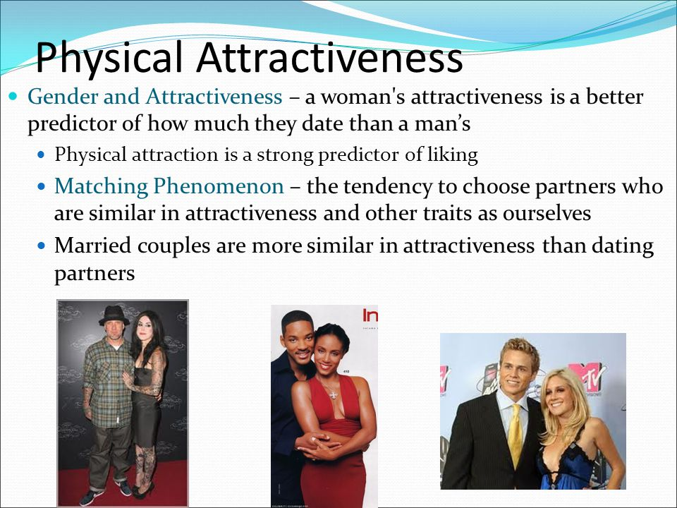 physical attraction and dating