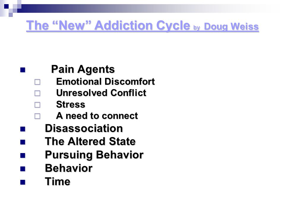 The New Addiction Cycle by Doug Weiss