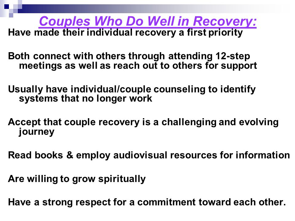 Couples Who Do Well in Recovery: