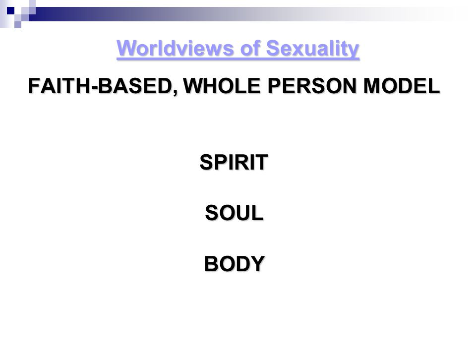 Worldviews of Sexuality