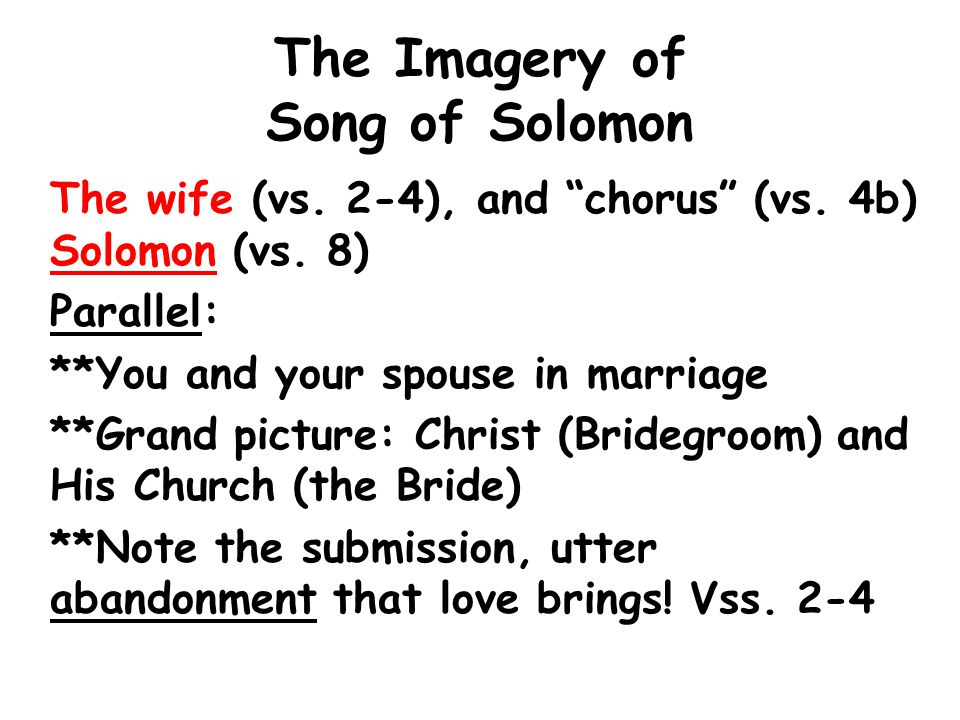 The Imagery of Song of Solomon