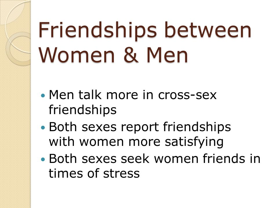 Friendships between Women & Men