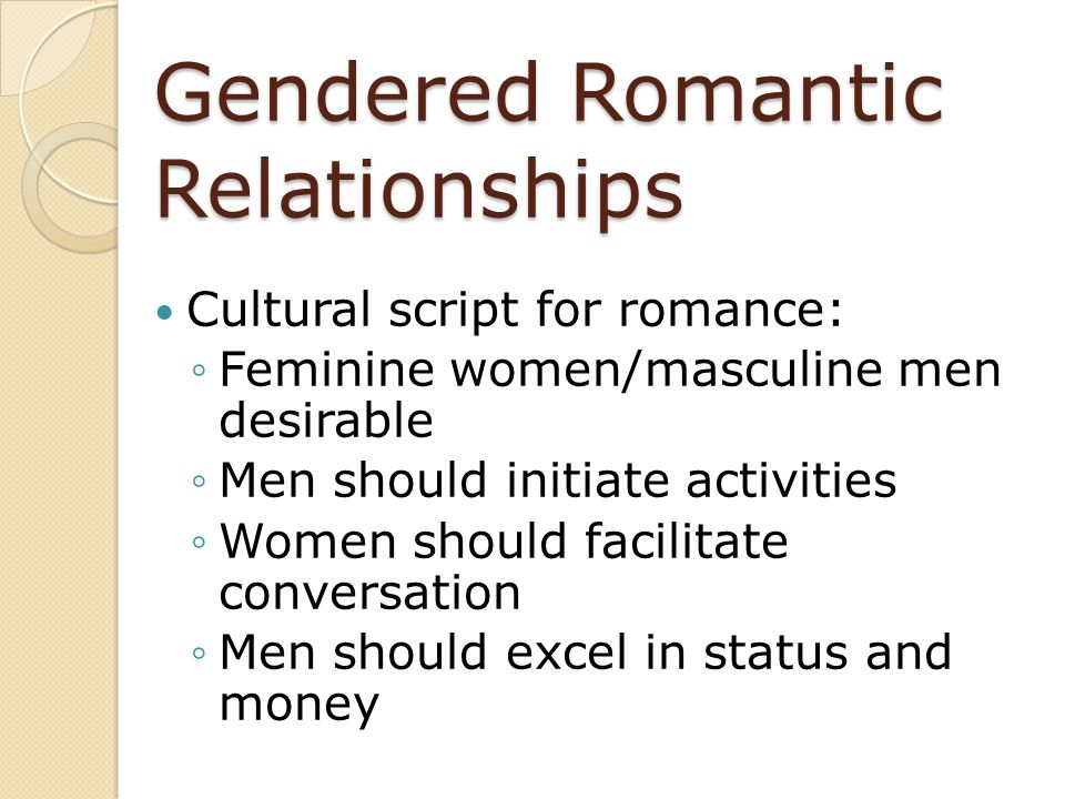 Gendered Romantic Relationships
