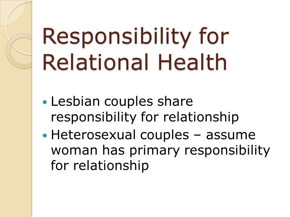 Responsibility for Relational Health