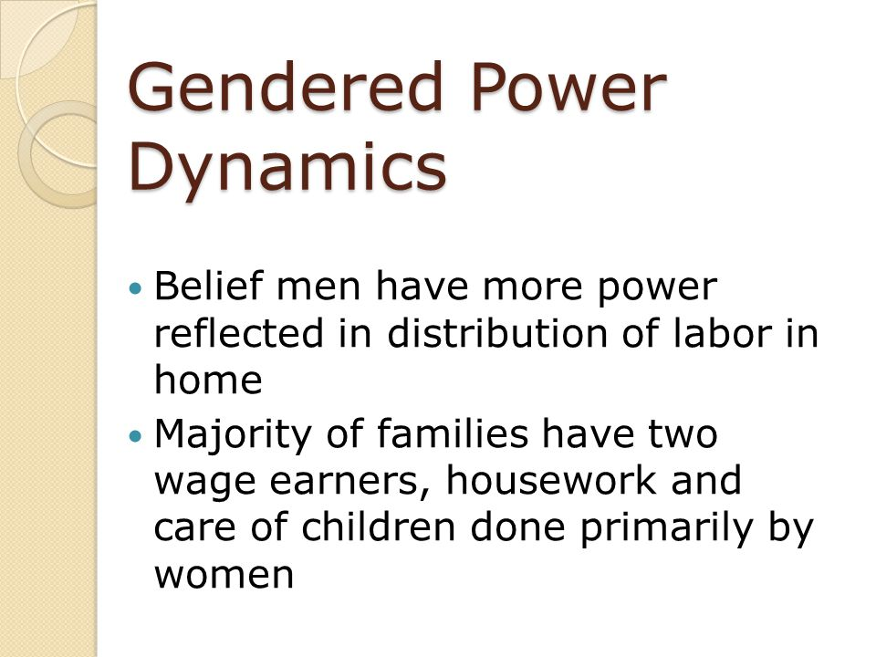 Gendered Power Dynamics