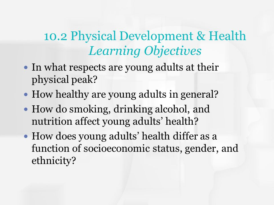 10.2 Physical Development & Health Learning Objectives