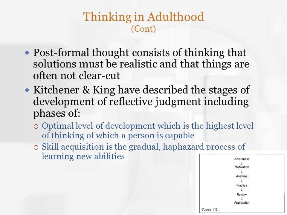 Thinking in Adulthood (Cont)