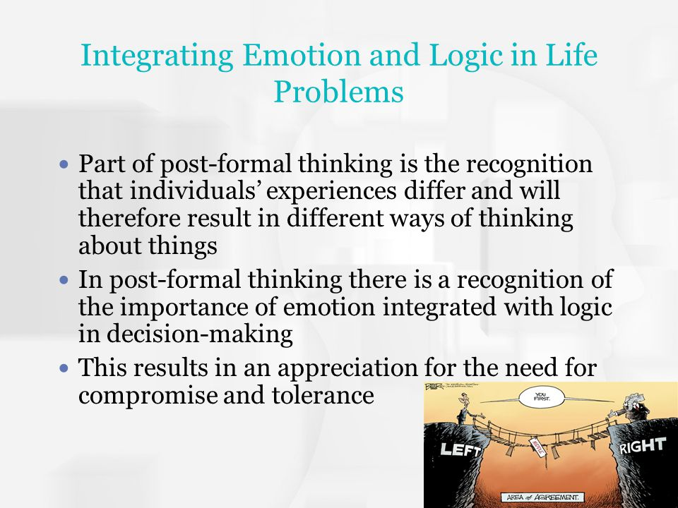 Integrating Emotion and Logic in Life Problems