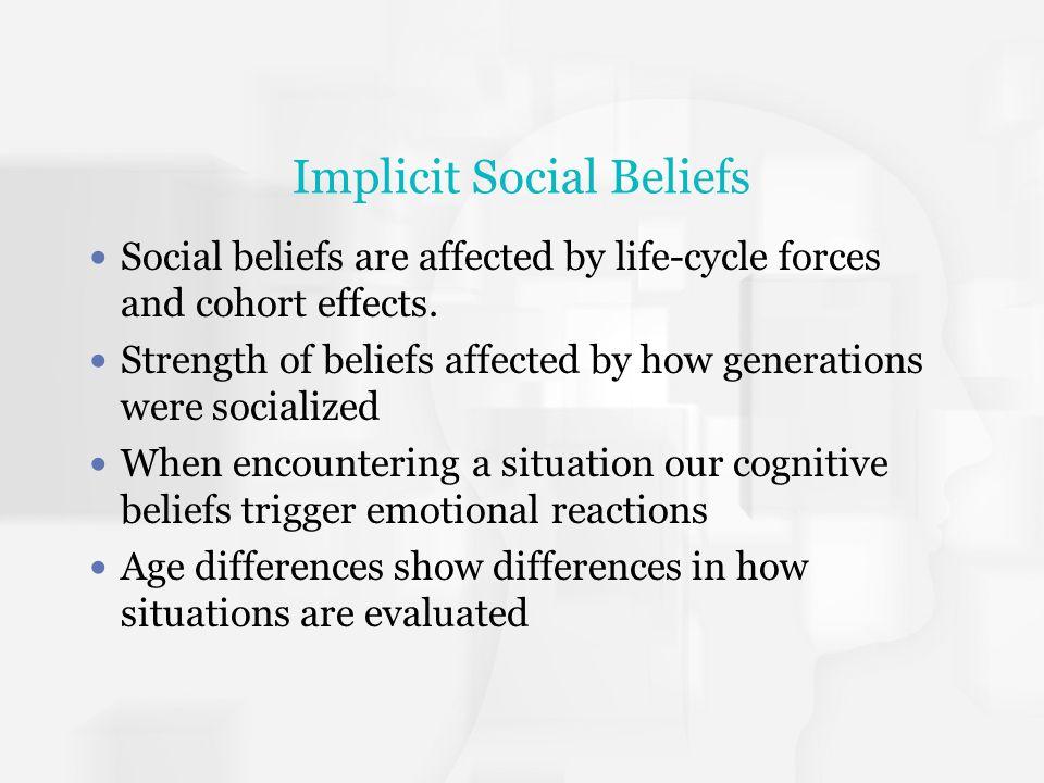 Implicit Social Beliefs