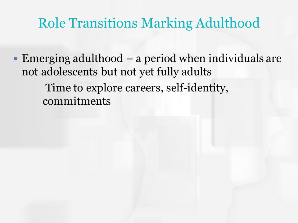Role Transitions Marking Adulthood