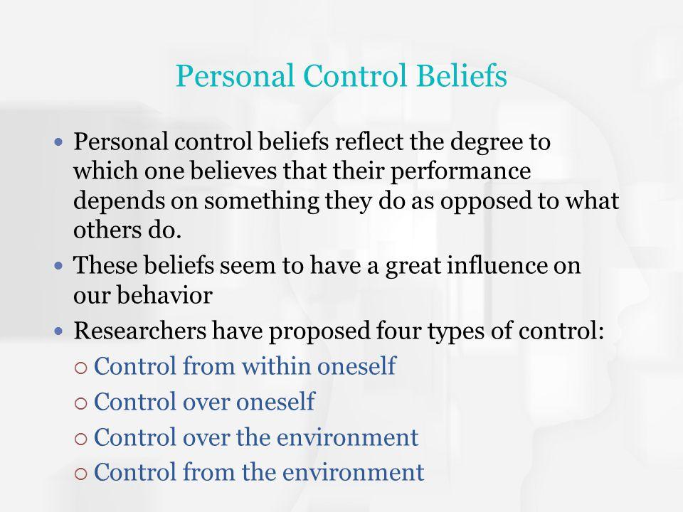 Personal Control Beliefs