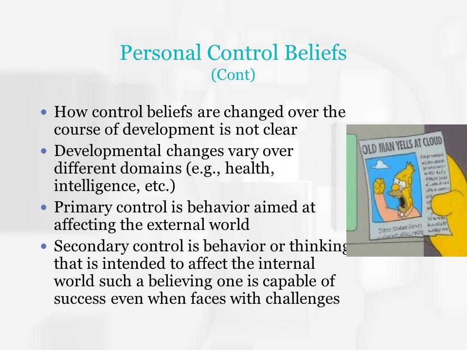 Personal Control Beliefs (Cont)
