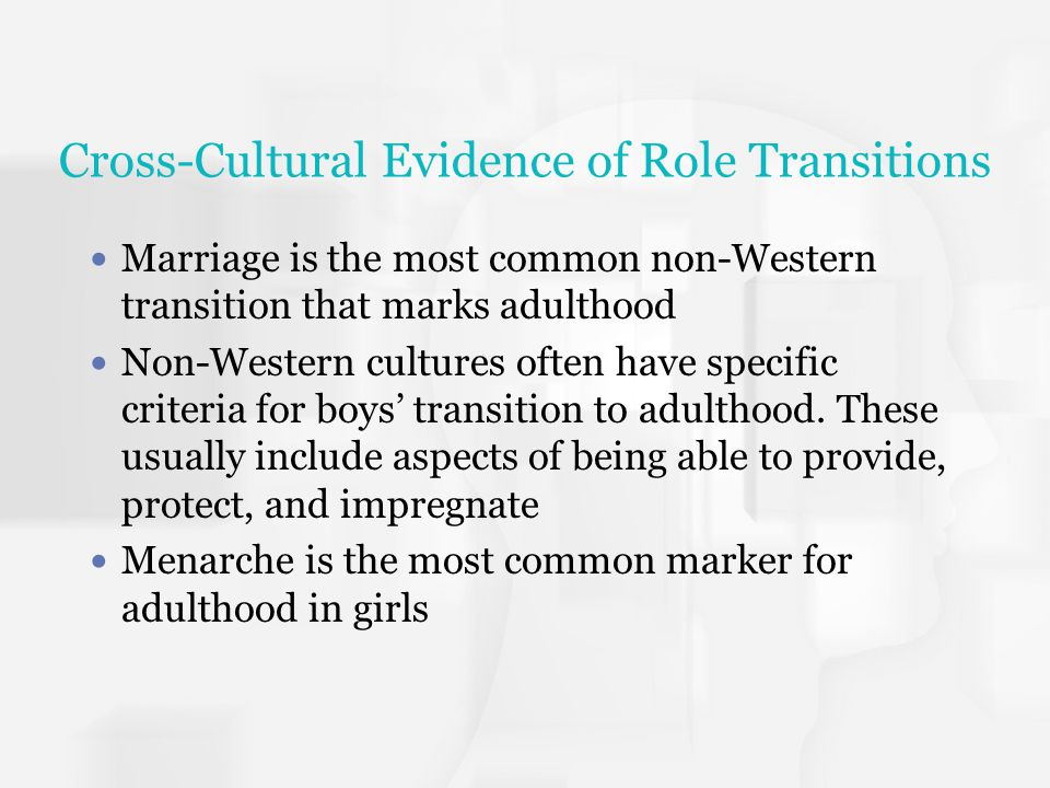 Cross-Cultural Evidence of Role Transitions