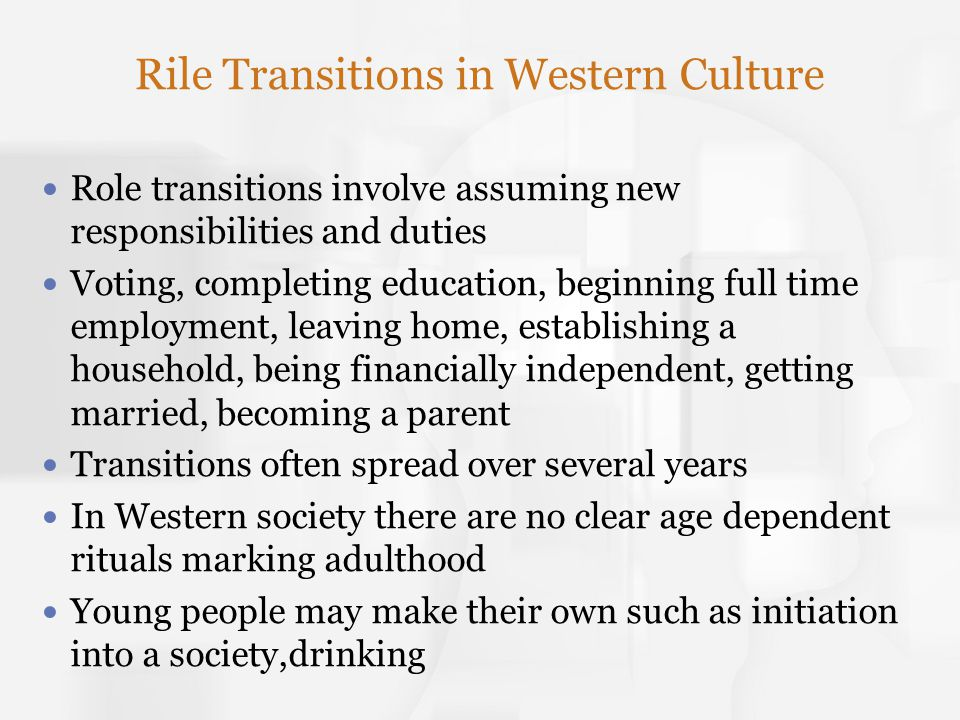 Rile Transitions in Western Culture