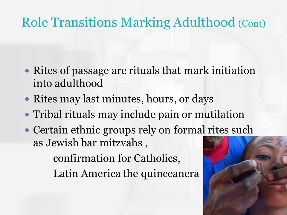 Role Transitions Marking Adulthood (Cont)