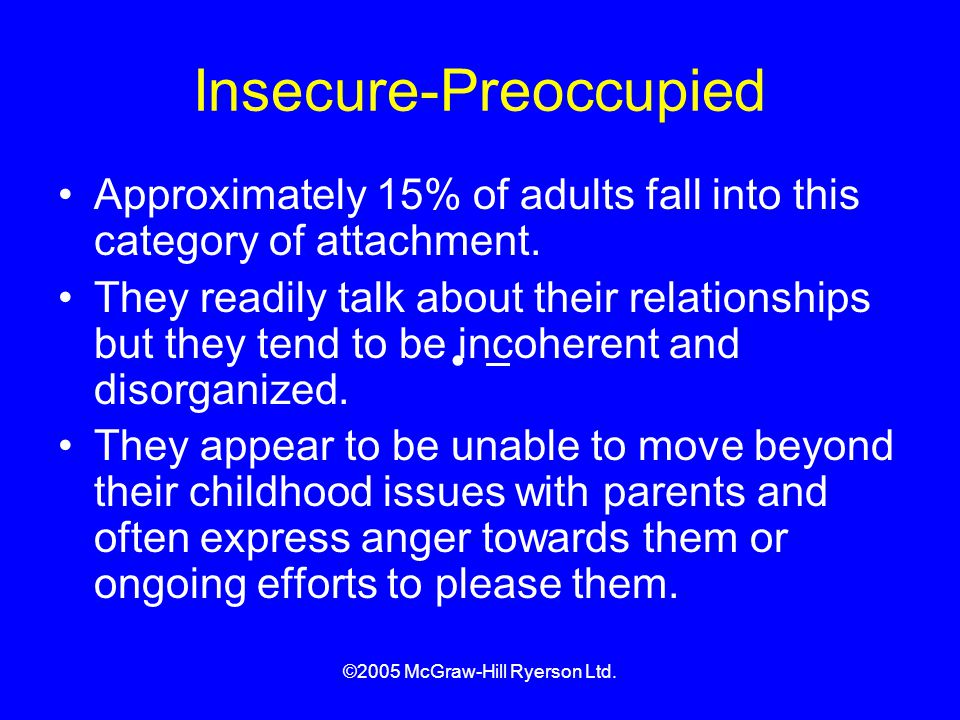 Insecure-Preoccupied
