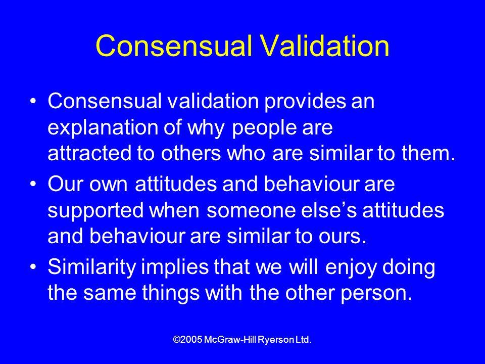 Consensual Validation