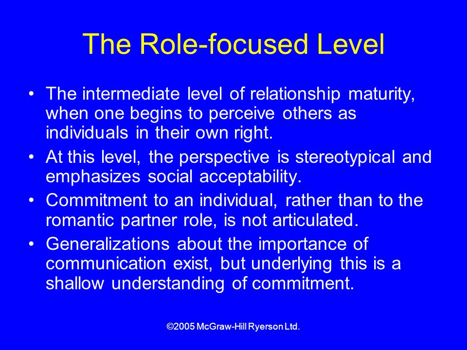 The Role-focused Level